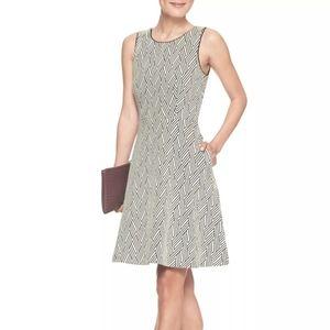 Banana Republic Geometric Jacquard Dress W/Pockets